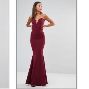 BNWT Missguided fishtail maxi dress size 6